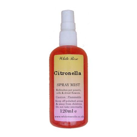 Citronella essential fragrance room spray