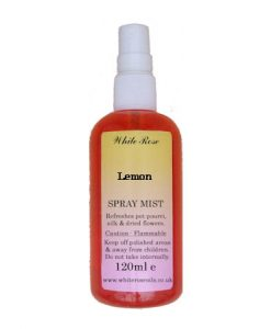 Lemon essential fragrance room spray