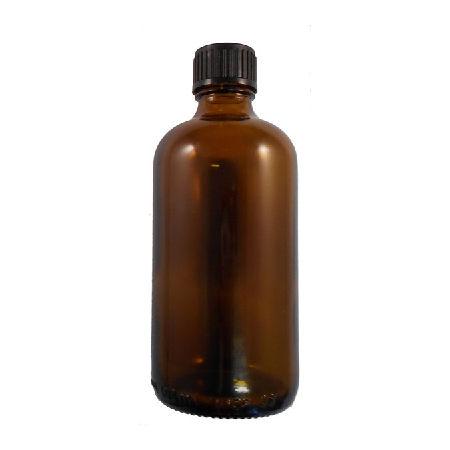 100 ml kingston glass amber bottle black cap with dropper