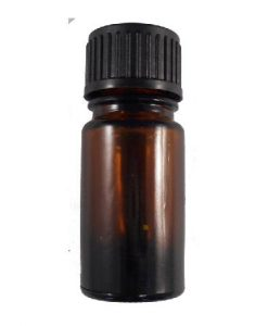 5ml oxford glass amber bottle black cap with dropper