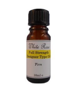 Five Designer Type FULL STRENGTH Fragrance Oil (Paraben Free)